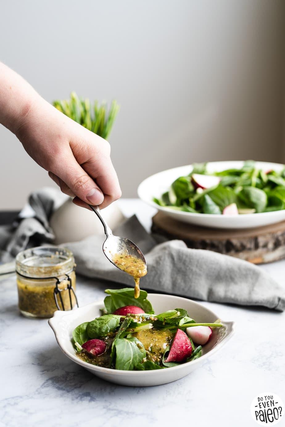 Mustard Chive Vinaigrette Recipe | DoYouEvenPaleo.net