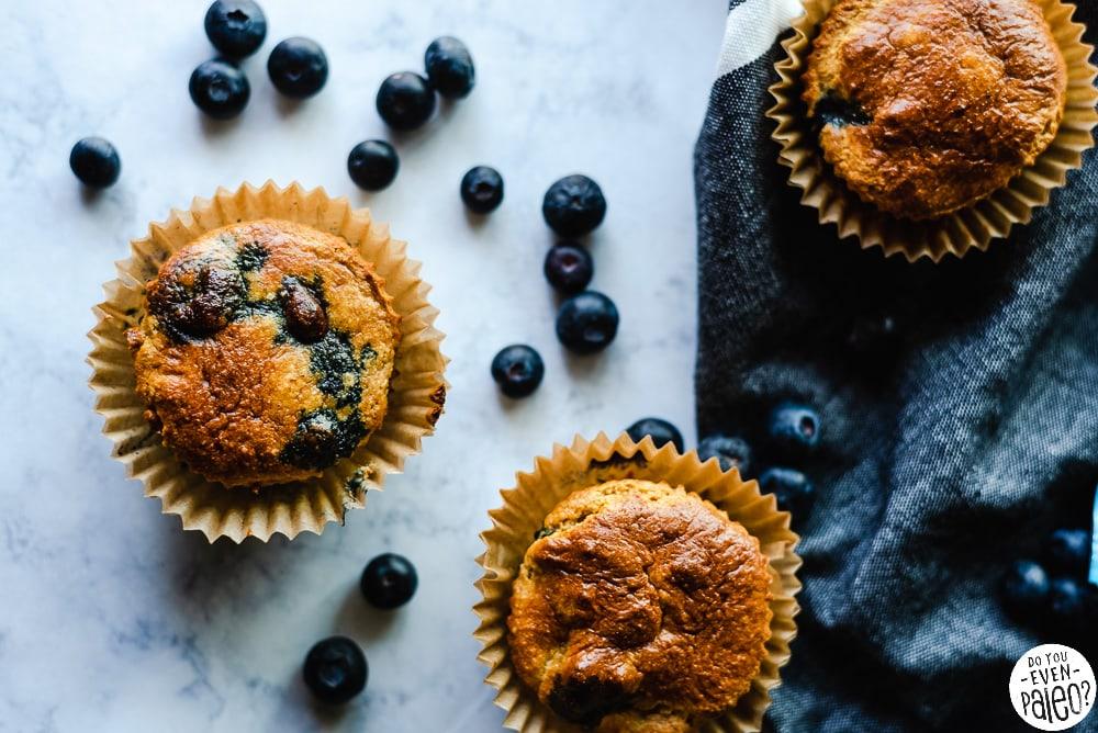 Paleo Blueberry Protein Muffin Recipe