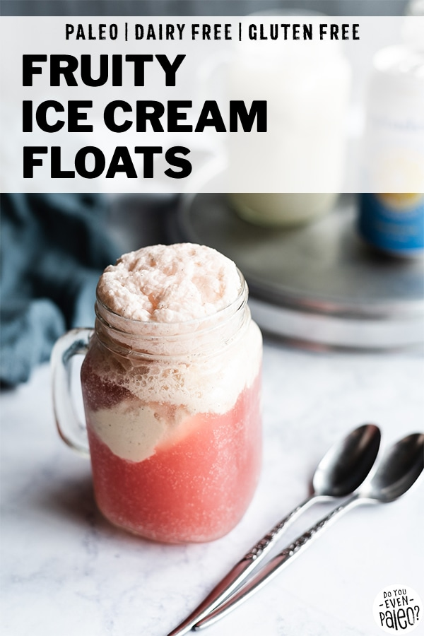 Fruity Dairy Free Ice Cream Floats Recipe