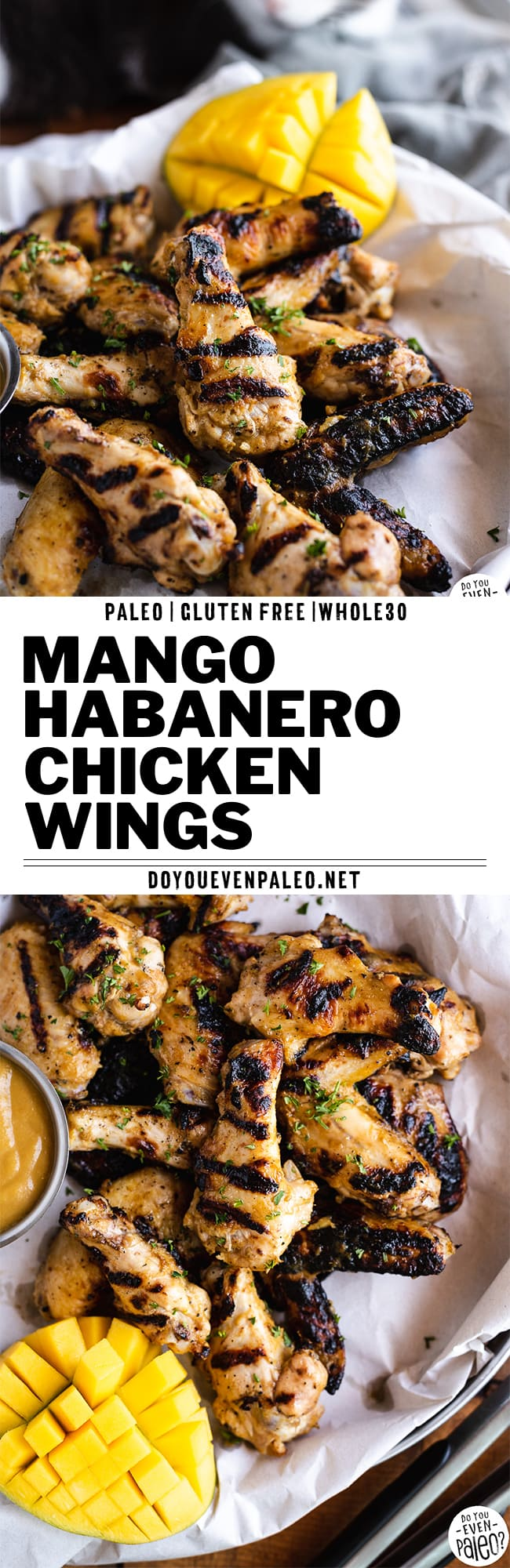 Whole30 Mango Habanero Chicken Wings Recipe