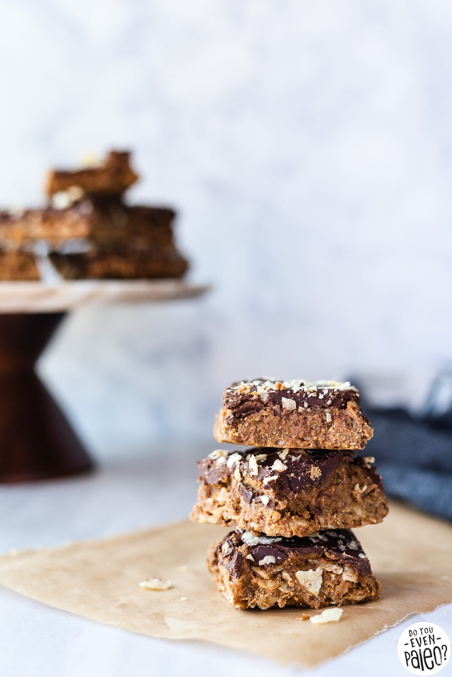 No Bake Paleo Peanut Butter Bars Recipe