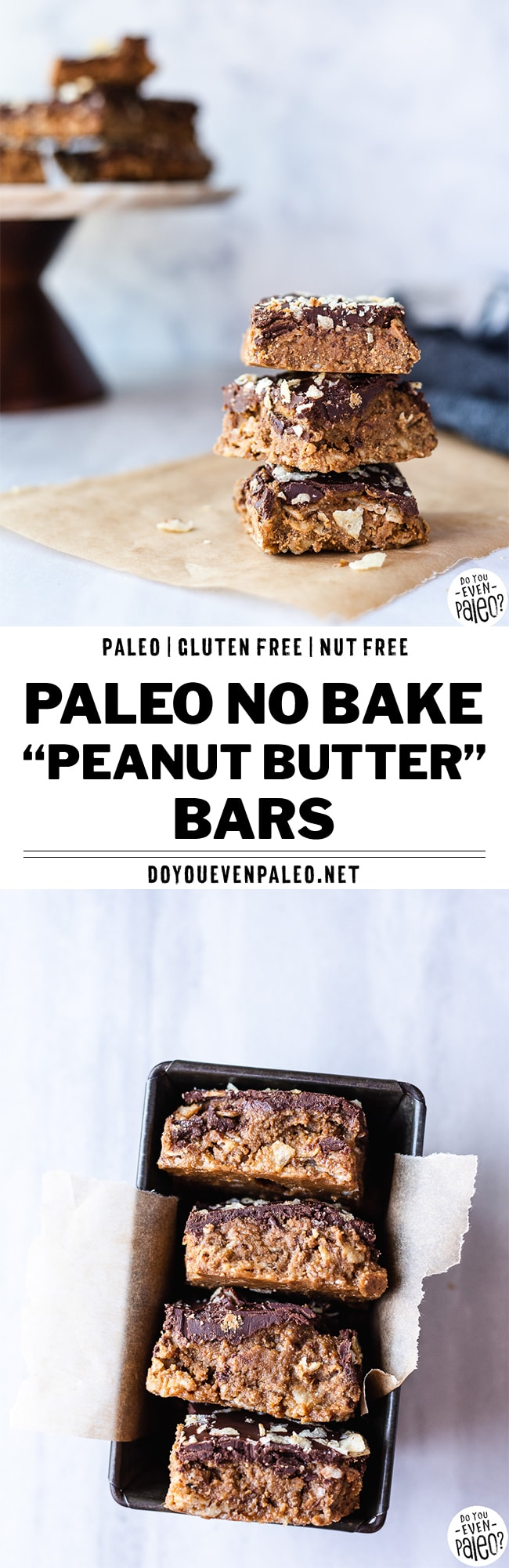 Paleo No Bake Peanut Butter Bars Recipe