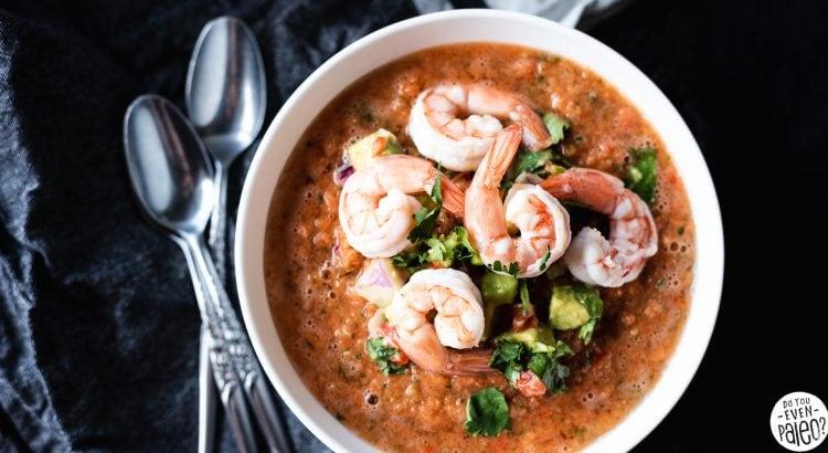 Shrimp Gazpacho with Avocado Relish Recipe   DoYouEvenPaleo.net