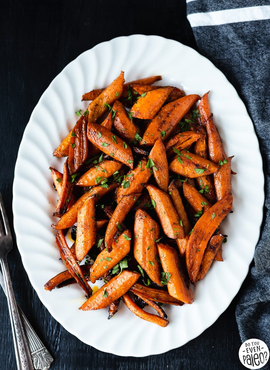 Paleo Chipotle Honey Roasted Carrots Recipe