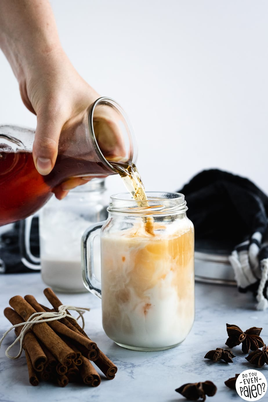 Homemade Dairy Free Iced Chai Tea Latte Recipe