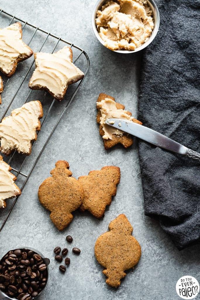 Paleo Coffee Sugar Cookies Recipe with Simple Paleo Frosting   DoYouEvenPaleo.net