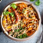 Paleo Thai sweet potato noodle bowls recipe