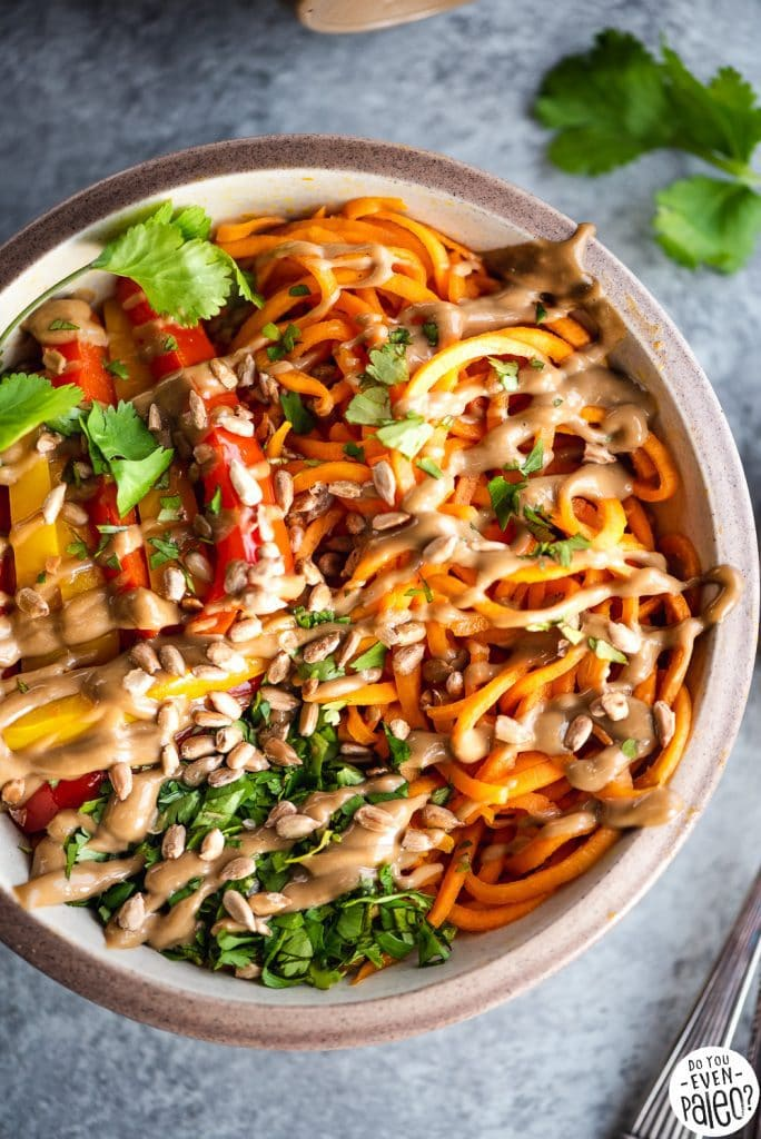 Thai sweet potato noodle bowls recipe