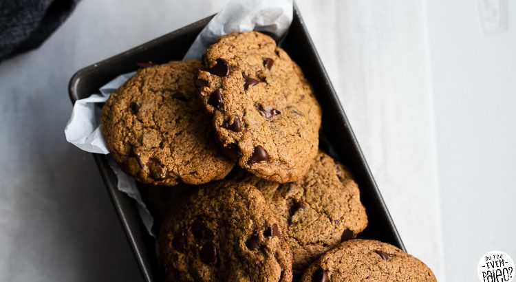 Gluten Free Sunbutter Chocolate Chip Cookies | DoYouEvenPaleo.net