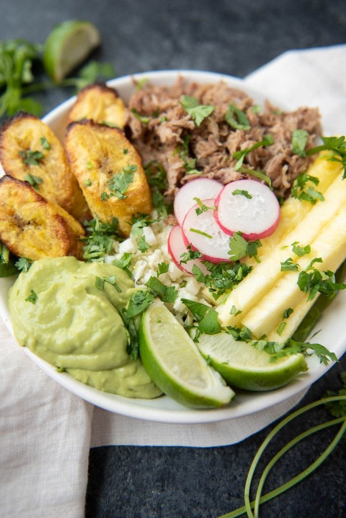 Whole30 Pork and Pineapple Bowl - image by Thriving on Paleo