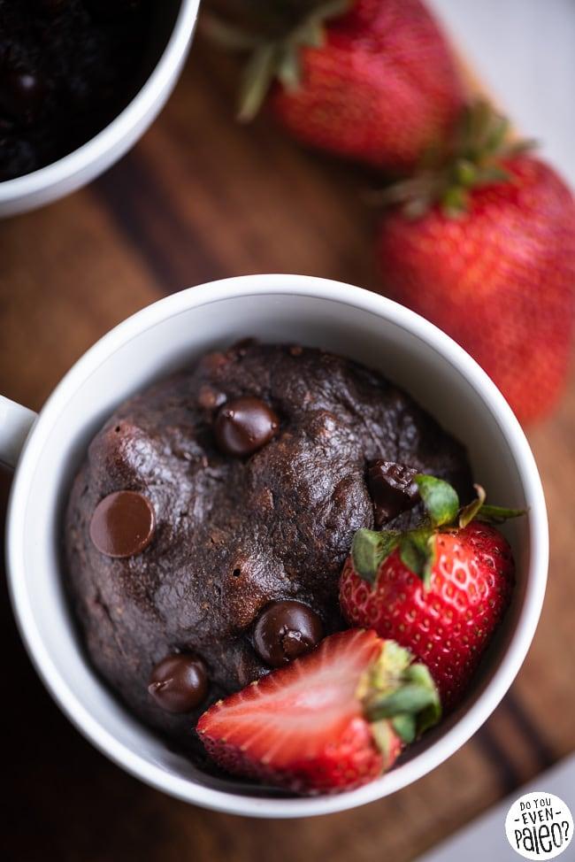 Paleo Chocolate Mug Cakes