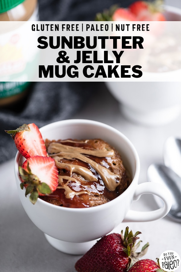 SunButter and Jelly Paleo Mug Cakes