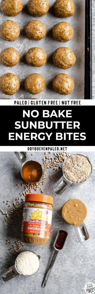 No Bake SunButter Energy Bites