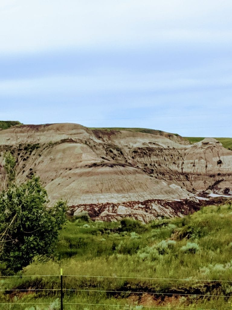 Rock formations in southern North Dakota