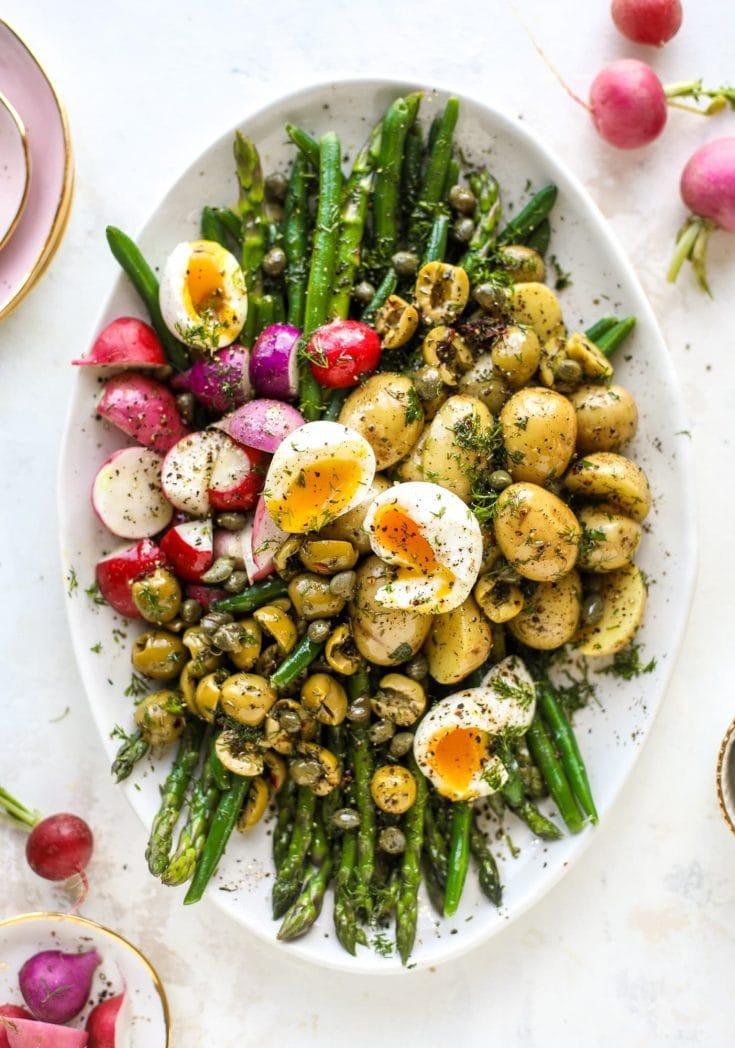 Nicoise Salad - Asparagus and Green Bean Nicoise Salad via How Sweet Eats