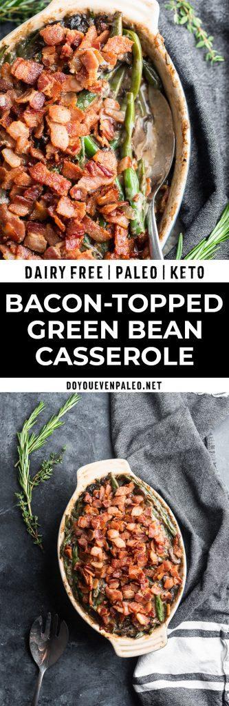 Dairy Free Green Bean Casserole Recipe Pinterest Image