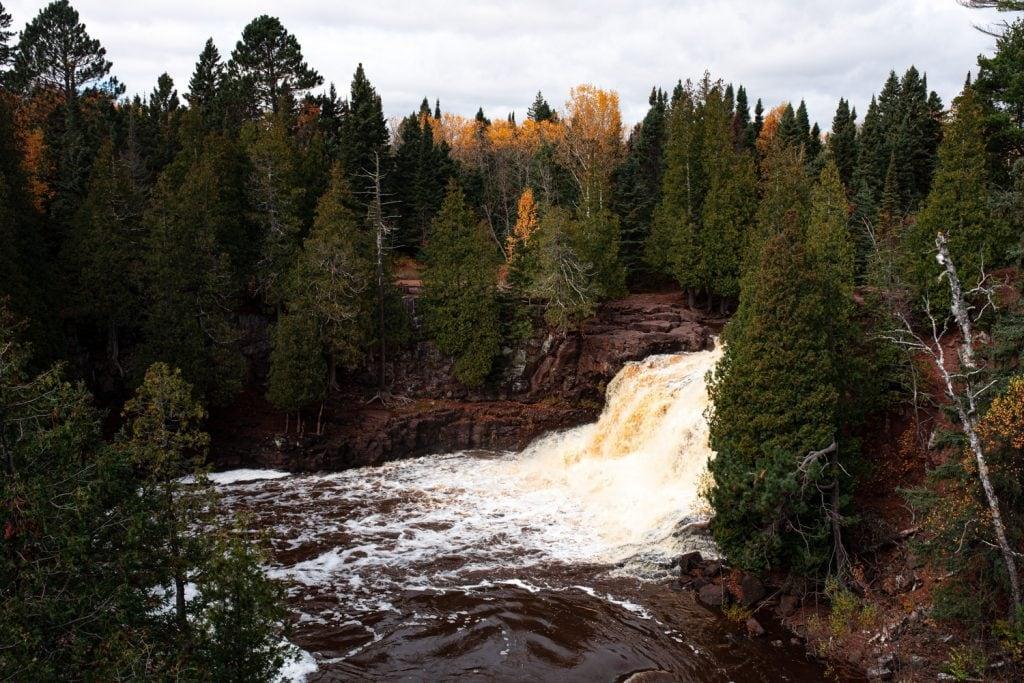 Waterfall in Duluth in the fall