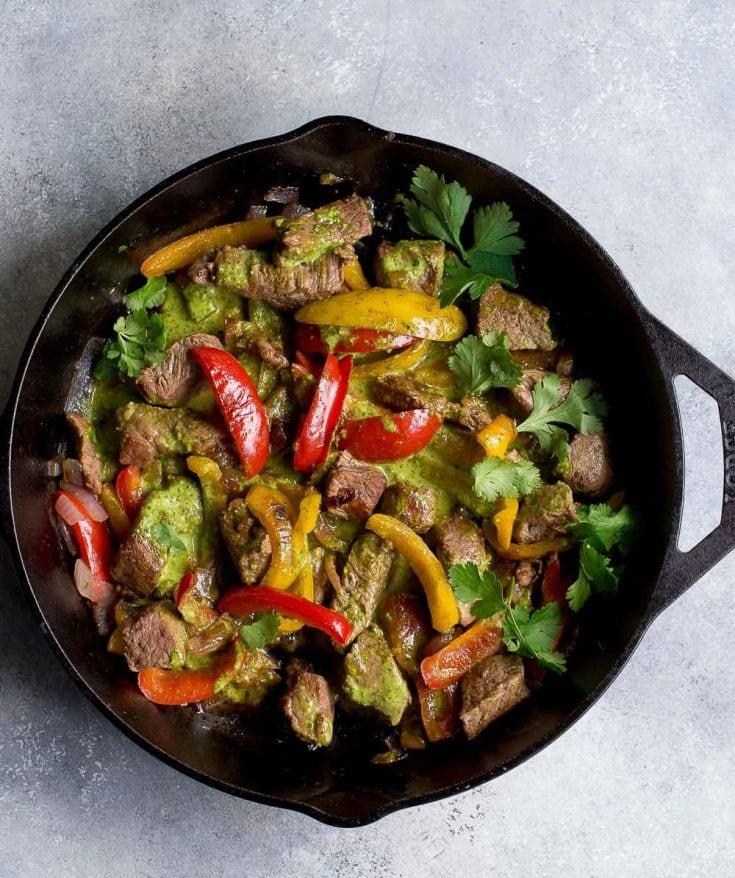 Chimichurri Steak and Pepper Skillet