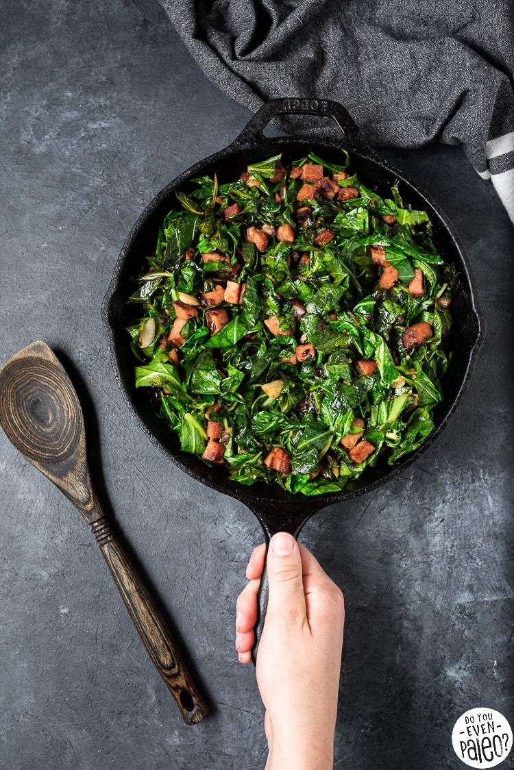 Skillet Collard Greens with Ham Recipe