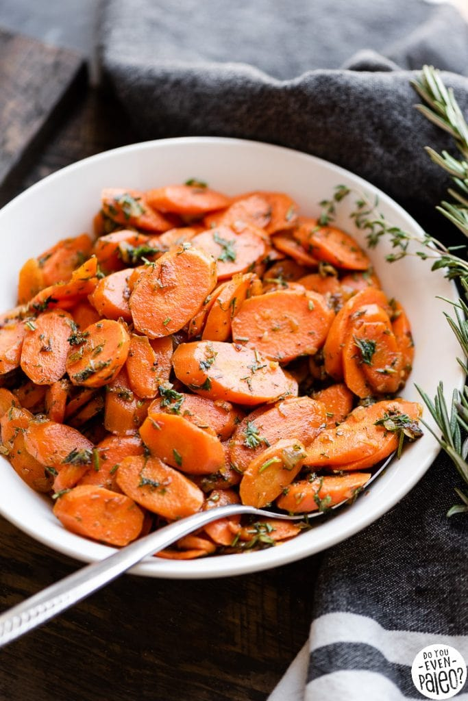 Herby garlic carrots recipe