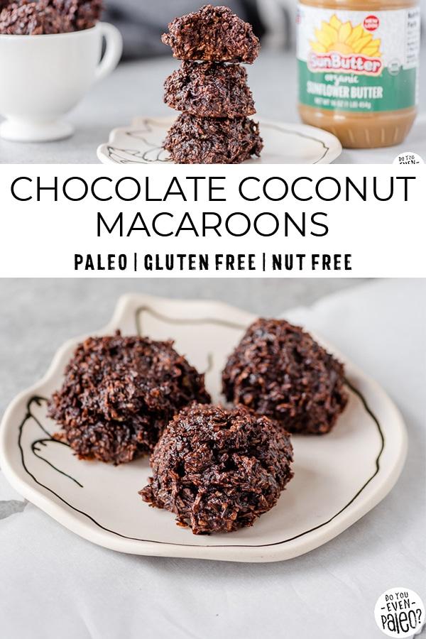 Chocolate coconut macaroons recipe
