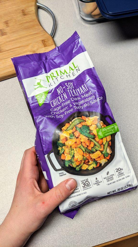 Primal kitchen foods chicken teriyaki frozen meal