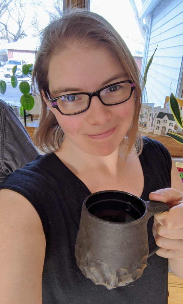 Morning coffee with a beautiful handmade mug from Dash and White