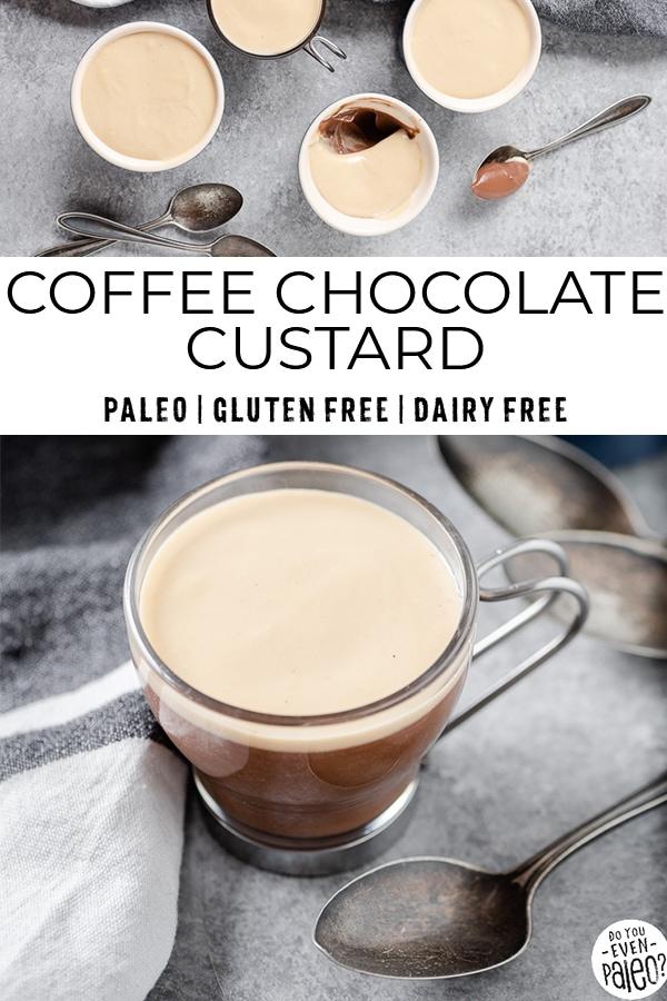Creamy coffee chocolate custard cups