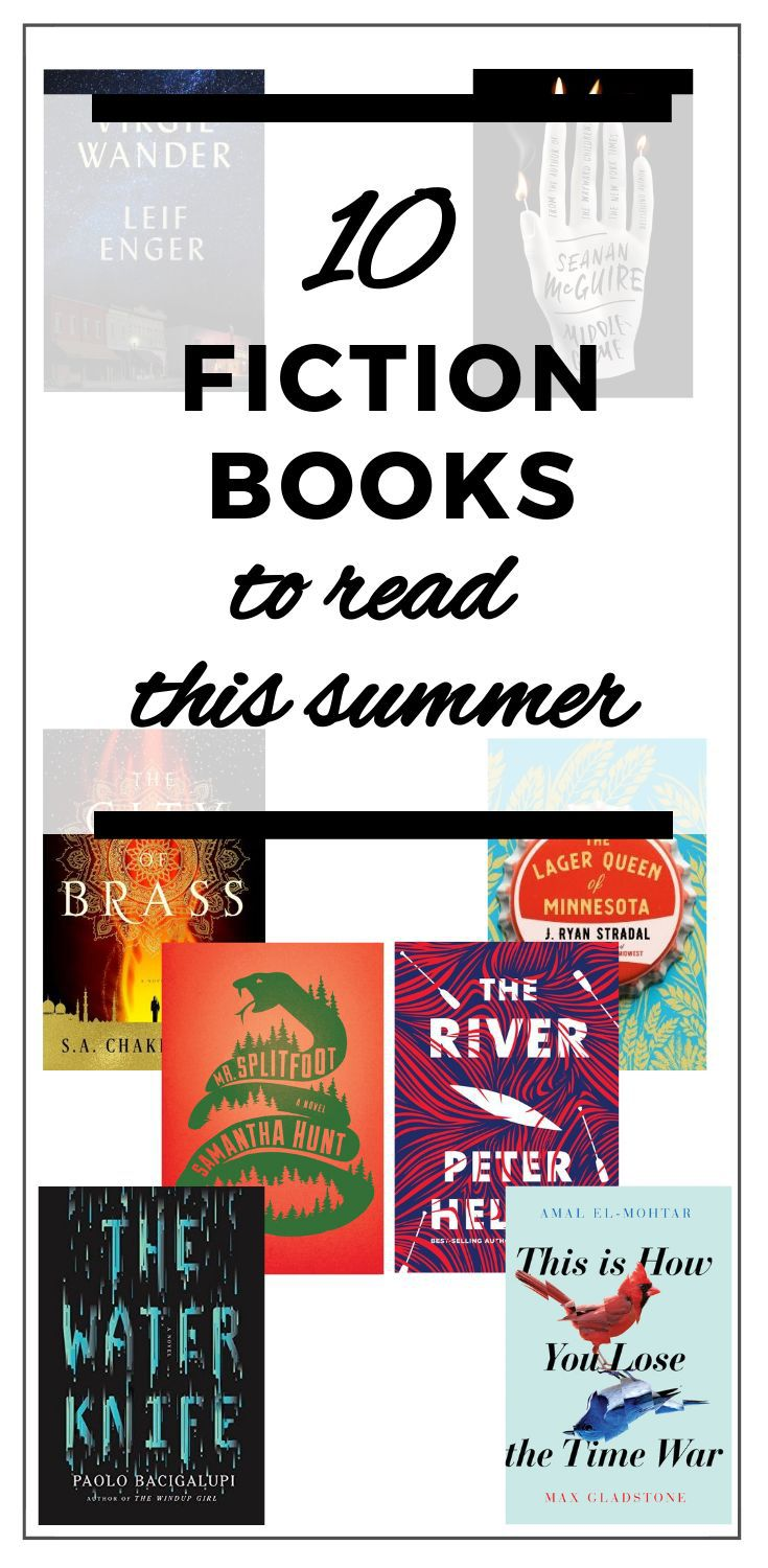 Pinterest image showing books to read this summer