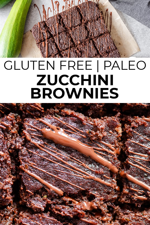 Pinterest image for paleo zucchini brownies