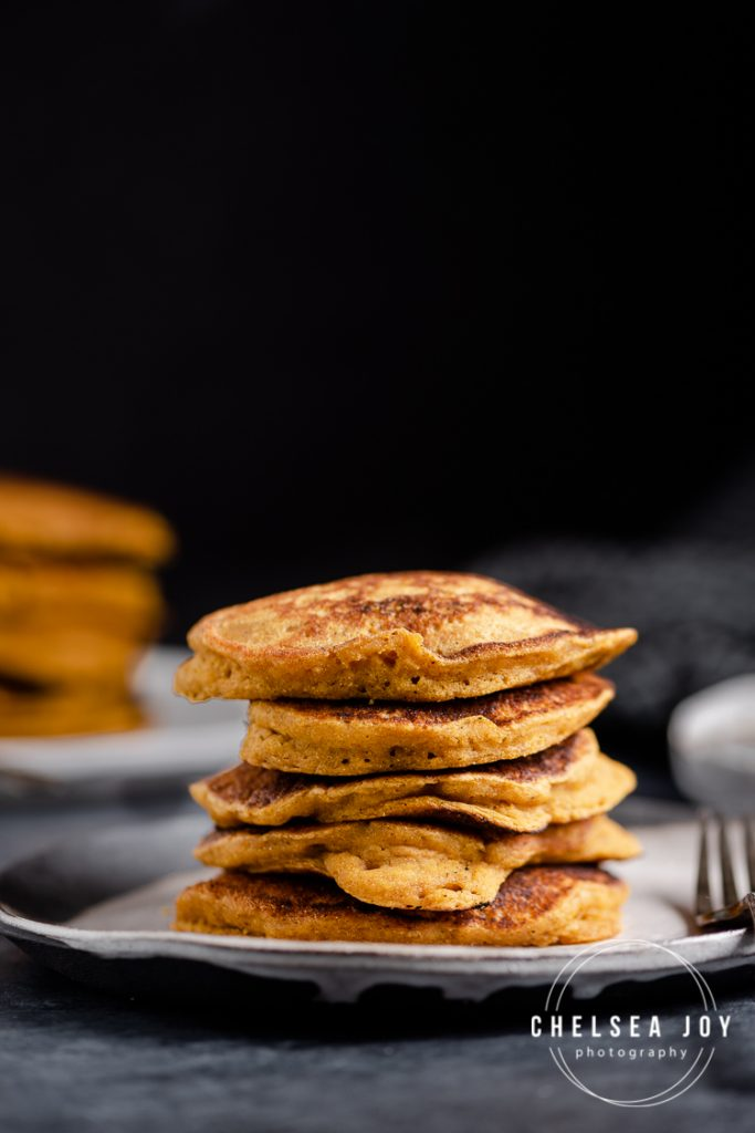 A stack of gluten free pancakes