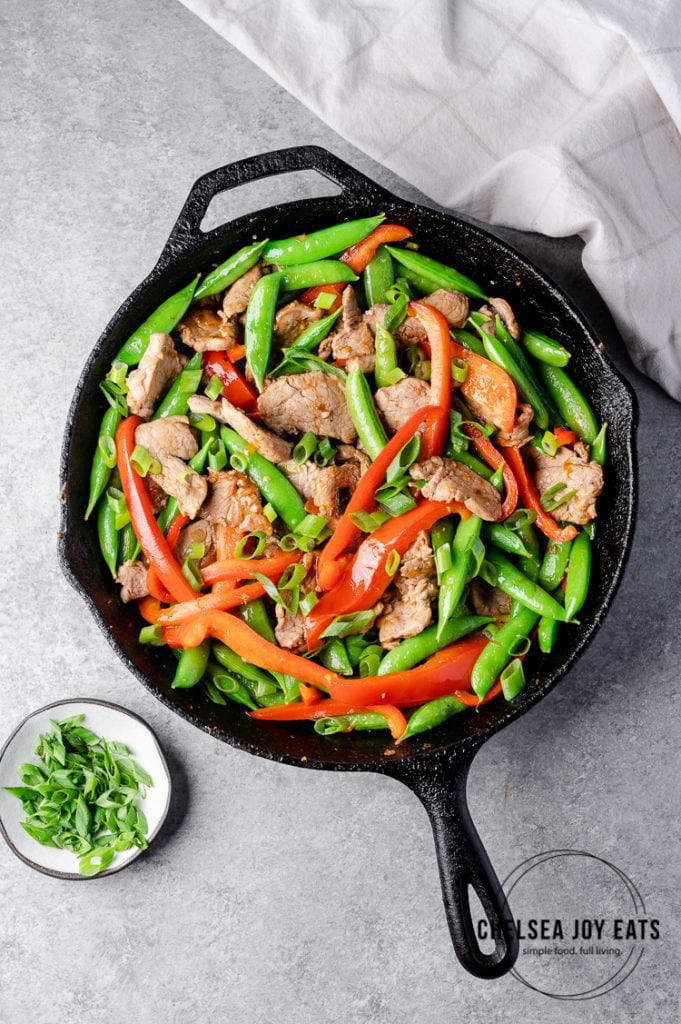 Stir fry in a large skillet
